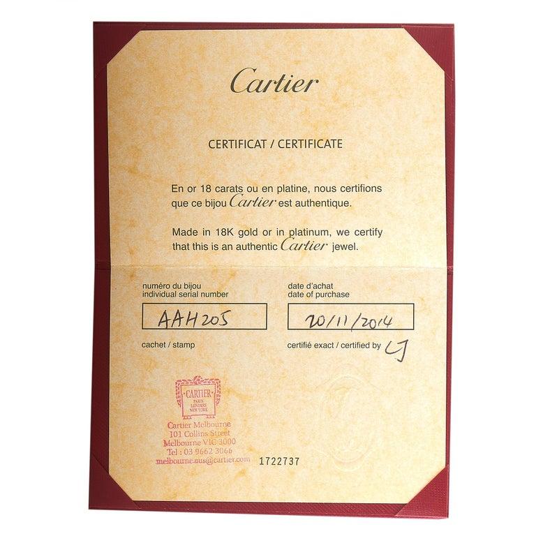 Women's Cartier Juste un Clou 18 Karat White Gold Diamond Bracelet For Sale