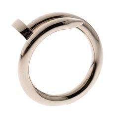 Cartier Juste Un Clou 18k Weißgold Ring Größe 50