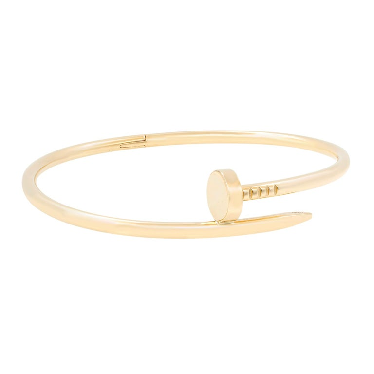 JUSTE UN CLOU BRACELET 18K Yellow gold Size 18 Condition: Unworn, looks like new. No scratches, does not show any wear.   An unhindered transformation with a remarkable strength. Designed in the 1970s during the creative frenzy in New York, Juste un