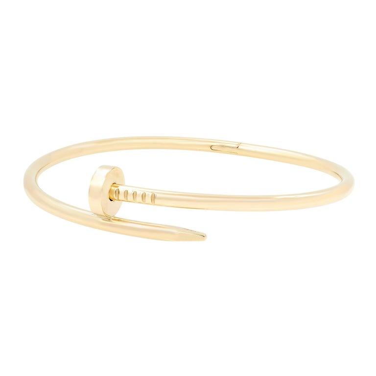 Modern Cartier Juste Un Clou 18 Karat Yellow Gold Bracelet For Sale