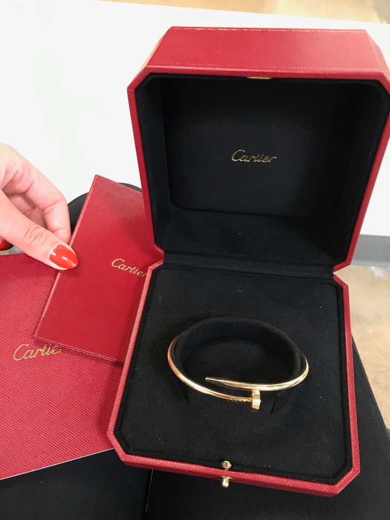 Cartier Juste Un Clou 18 Karat Yellow Gold Bracelet In Excellent Condition For Sale In New York, NY