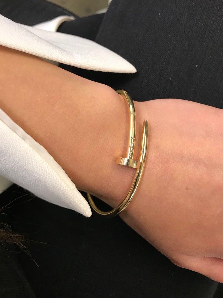 Cartier Juste Un Clou 18 Karat Yellow Gold Bracelet For Sale 1
