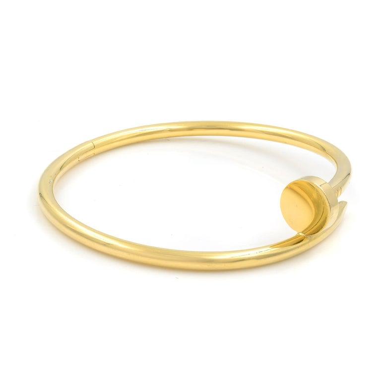 Modern Cartier Juste Un Clou 18 Karat Yellow Gold Bracelet FWV681