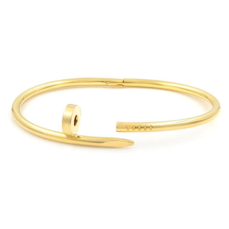 Women's or Men's Cartier Juste Un Clou 18 Karat Yellow Gold Bracelet FWV681