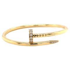 Cartier Juste Un Clou Diamond 18 Karat Gold Bracelet