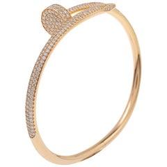 Cartier Juste Un Clou Diamond 18K Rose Gold Bracelet 17