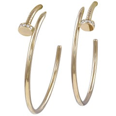 Cartier Juste un Clou Diamond and Gold Hoop Earrings