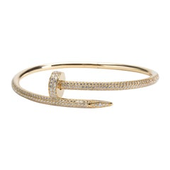 Cartier Juste un Clou Diamond Bracelet in 18 Karat Yellow Gold 2.26 Carat
