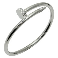 Cartier Juste Un Clou Diamond White Gold Bangle Bracelet