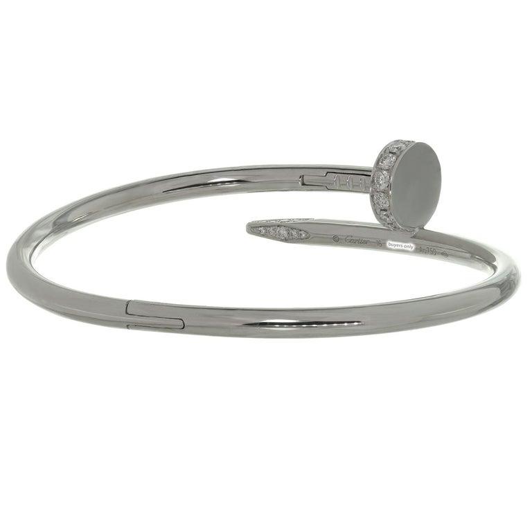 Cartier Juste Un Clou Diamond White Gold Bangle Bracelet For Sale 1