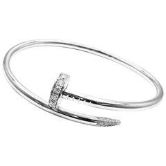 Cartier Juste Un Clou Diamond White Gold Nail Bangle Bracelet