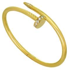 Cartier Juste un Clou Diamond Yellow New Model Bracelet Box Receipt