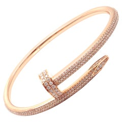 Cartier Juste Un Clou Nail 2.26 Carat Diamond Rose Gold Bangle Bracelet