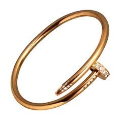 "Cartier Juste Un Clou ""Nail"" Bracelet in 18k Rose Gold, Diamonds"