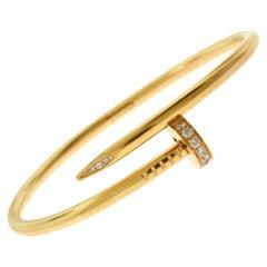 "Cartier Juste un Clou ""Nail"" in 18 Karat Rose Gold, Diamonds Bracelet"