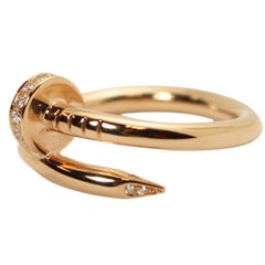 Cartier Juste Un Clou Pink Gold and Diamond Nail Ring