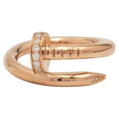 Cartier 'Juste un Clou' Rose Gold and Diamond Ring