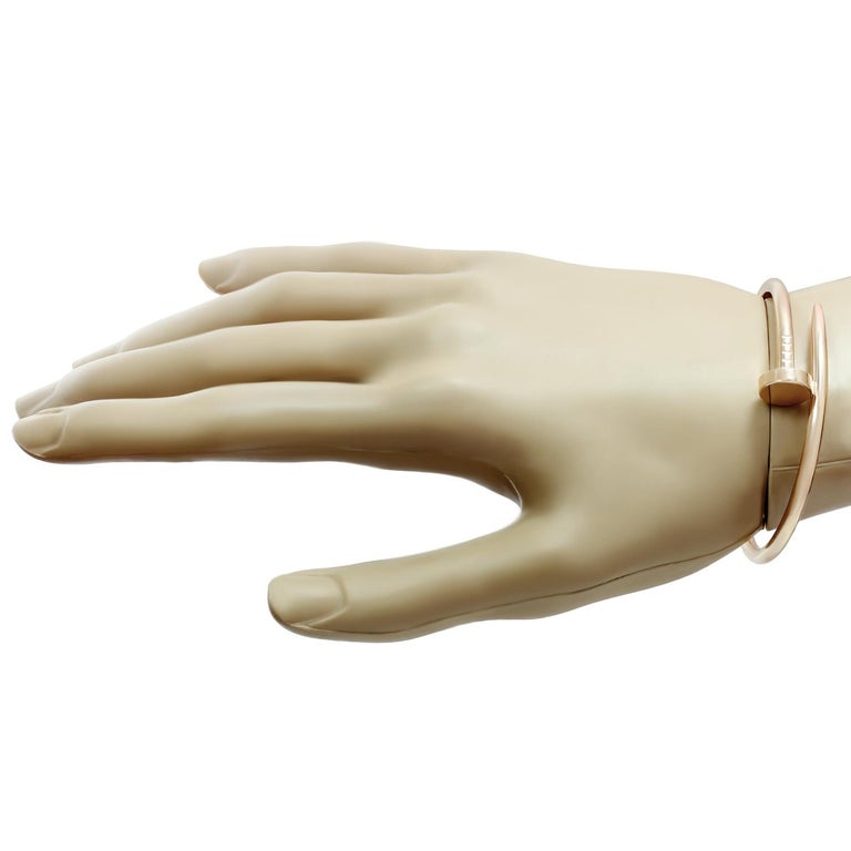 Women's Cartier Juste Un Clou Rose Gold Bangle Bracelet For Sale
