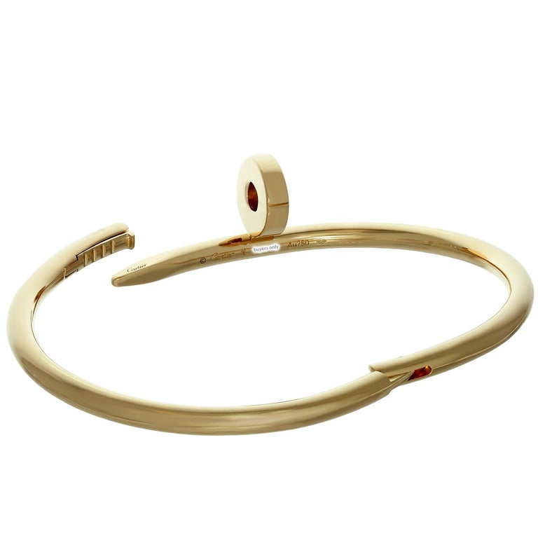 Cartier Juste Un Clou Rose Gold Bangle Bracelet For Sale 1
