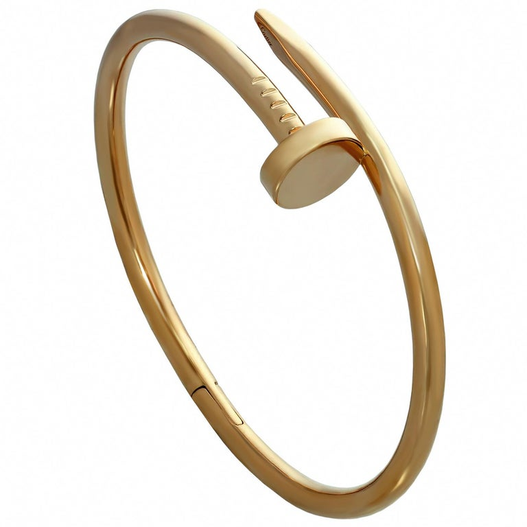 Cartier Juste Un Clou Rose Gold Bangle Bracelet For Sale