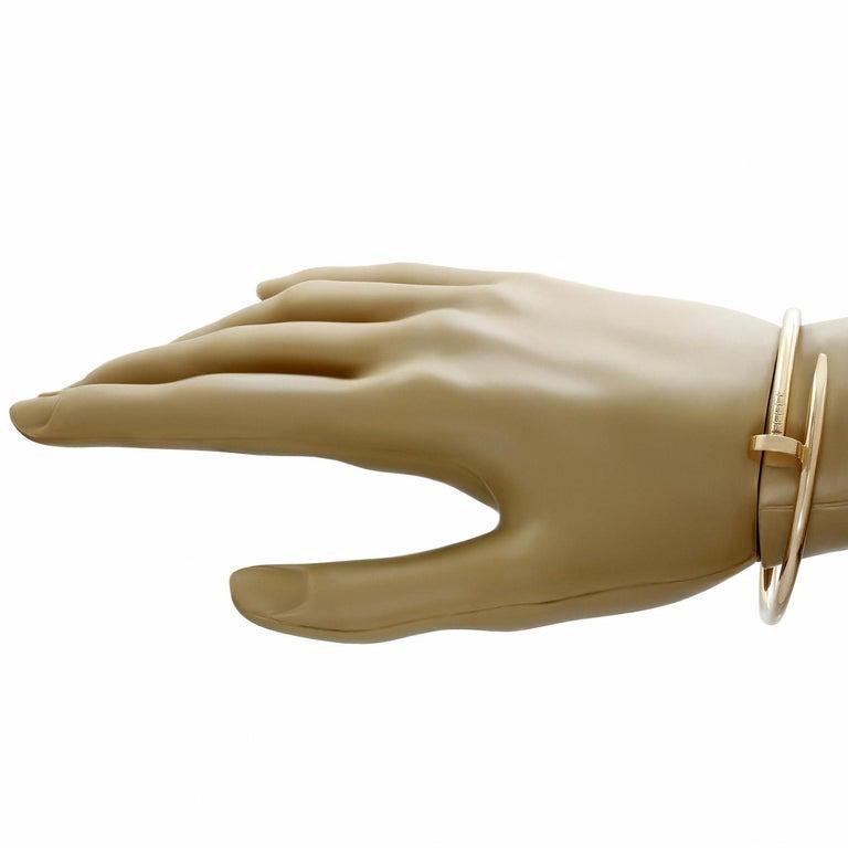 Women's Cartier Juste Un Clou Rose Gold Bangle Bracelet Pouch Papers For Sale