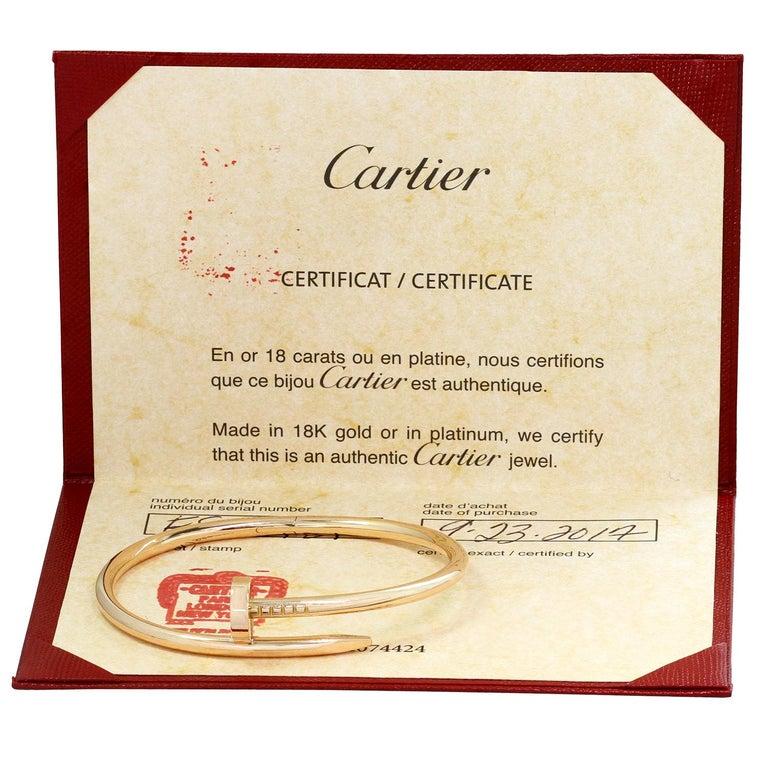 Cartier Juste Un Clou Rose Gold Bangle Bracelet Pouch Papers For Sale 1
