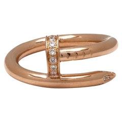 Cartier 'Juste un Clou' Rose Gold Diamond Ring