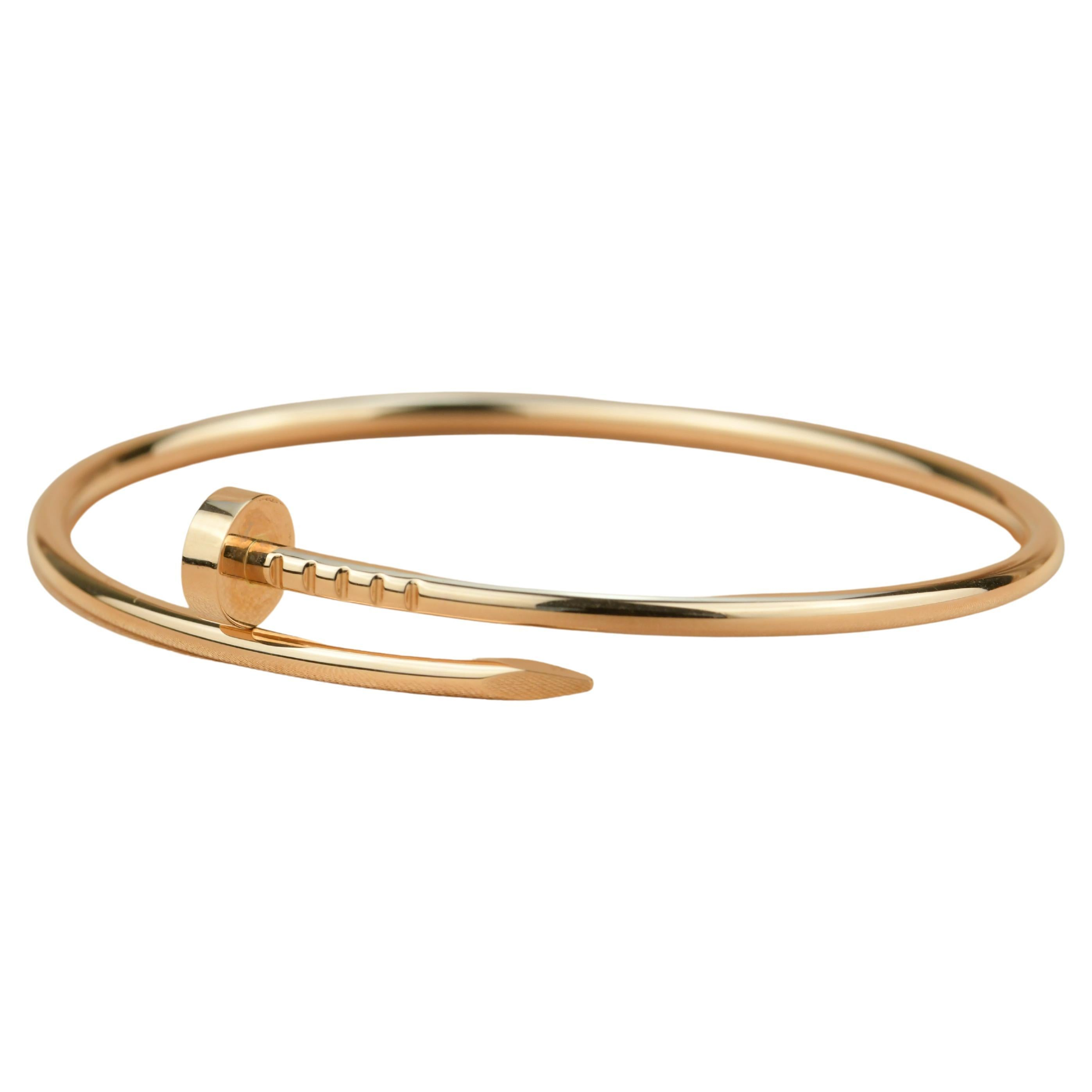 Cartier JUSTE UN CLOU Thin Bracelet Rose Gold