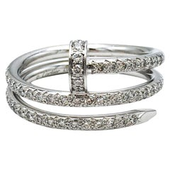 Cartier 'Juste un Clou' White Gold and Diamond Pave Ring