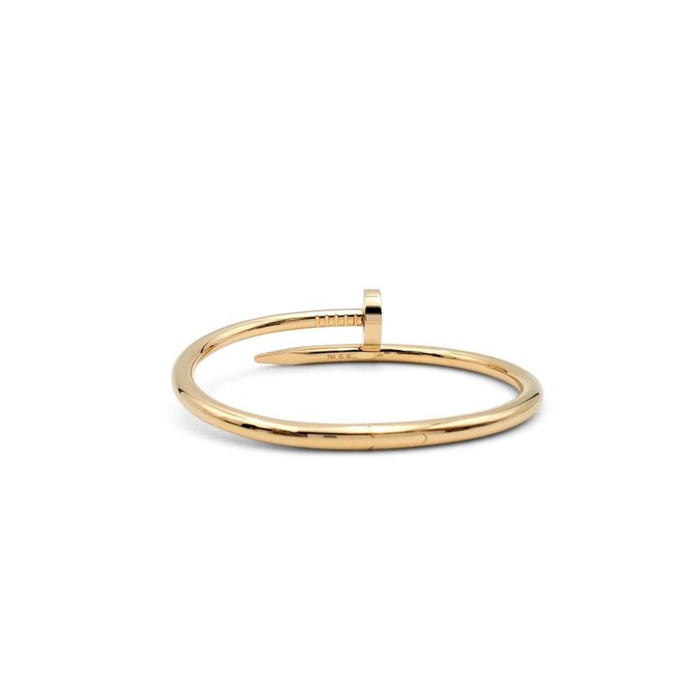 Women's or Men's Cartier 'Juste un Clou' Yellow Gold Bracelet