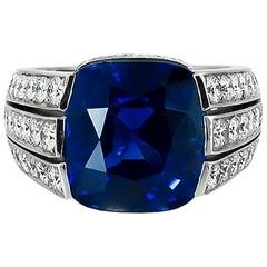 Cartier Paris 15.091 Carat Kashmir Sapphire Diamond Ring