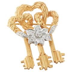 Cartier Key to My Heart Brooch