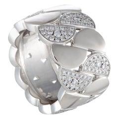 Cartier La Dona 18 Karat White Gold Diamond Wide Band Ring