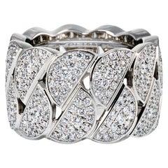 Cartier La Dona 18 Karat White Gold Pave Diamond Ring