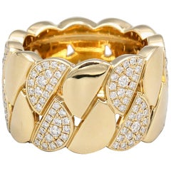 Cartier La Dona Diamond 18 Karat Yellow Gold Band