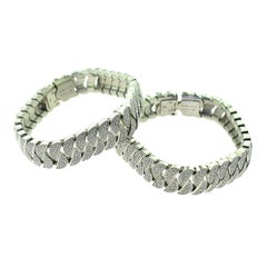 Cartier La Dona Diamond-Paved White Gold Set of Two Bracelets, 30 Total Carat