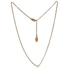 Cartier Ladies 18 Karat Gold Necklace with Diamond Pendant