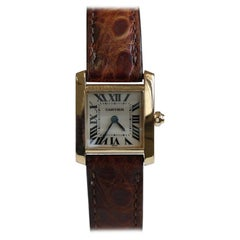 Cartier Ladies 18 Karat Yellow Gold Ladies Tank Francaise W5000256