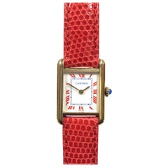 Cartier Ladies Classic Vermeil Mechanical Tank Wristwatch