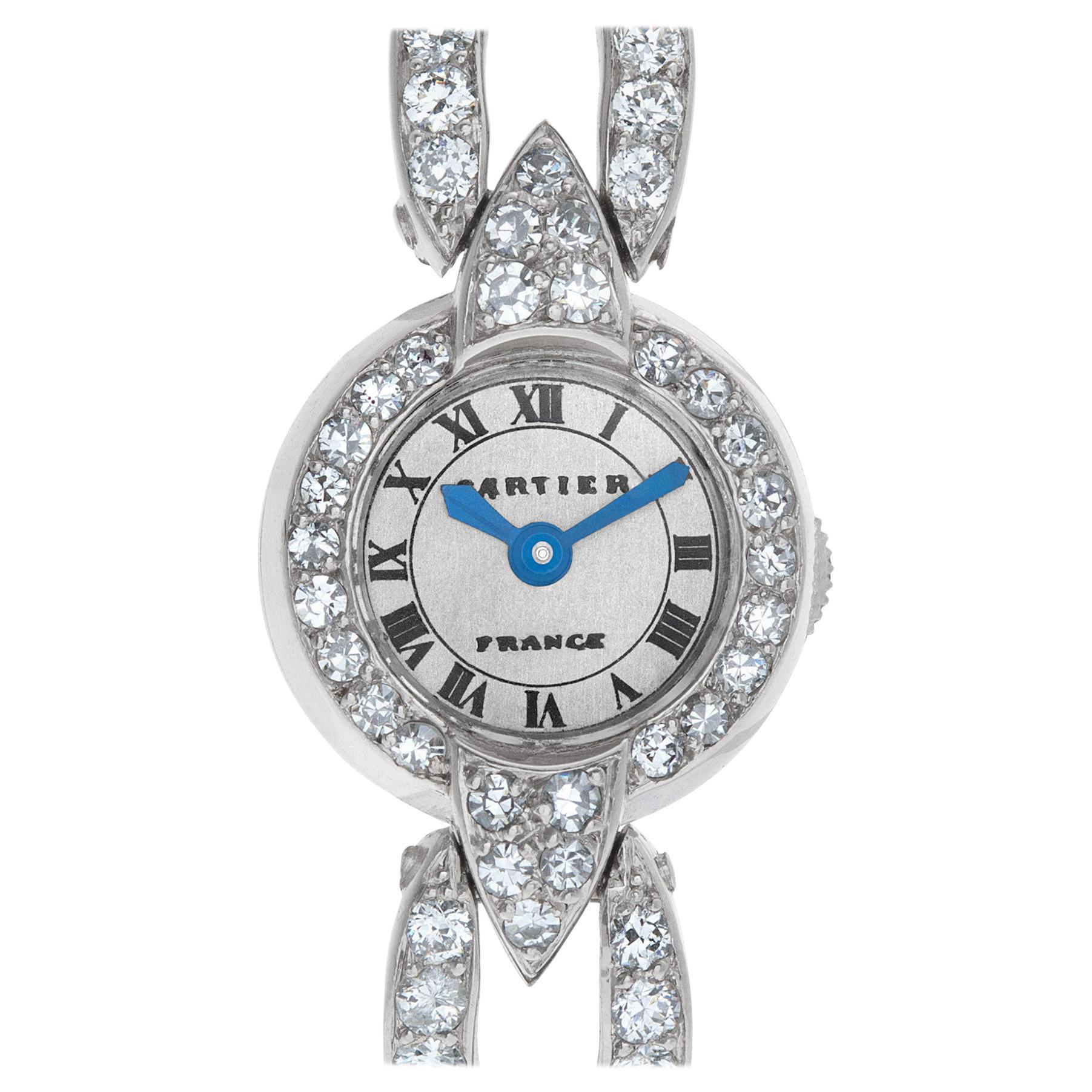Cartier Ladies Cocktail Watch in Platinum with Diamonds