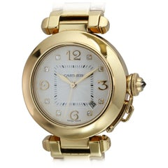 Cartier Ladies Pasha 18 Karat Yellow Gold Wristwatch