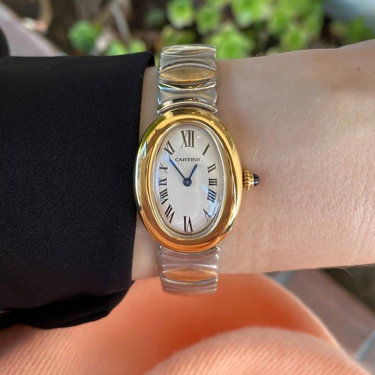 Cartier Ladies Rare Baignoire 18K Yellow Gold & Steel Quartz Watch W15045D8  Genuine pre-owned Cartier Ladies Rare