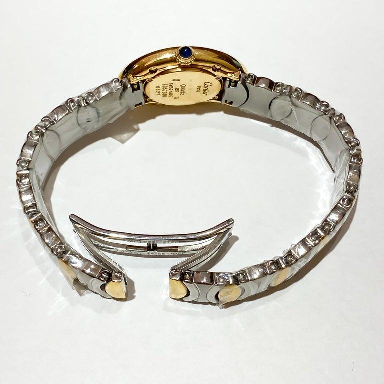 Cartier Ladies Rare Baignoire 18 Karat Gold and Steel Quartz Watch W15045D8 1