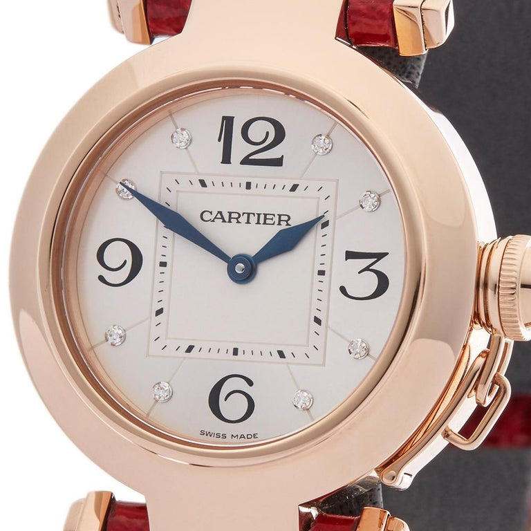 Cartier Ladies Rose Gold Pasha de Cartier Quartz 2812 In Excellent Condition In Bishop's Stortford, Hertfordshire