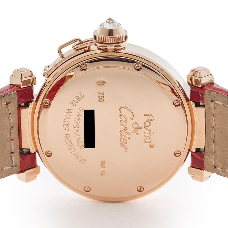 Cartier Ladies Rose Gold Pasha de Cartier Quartz 2812 4