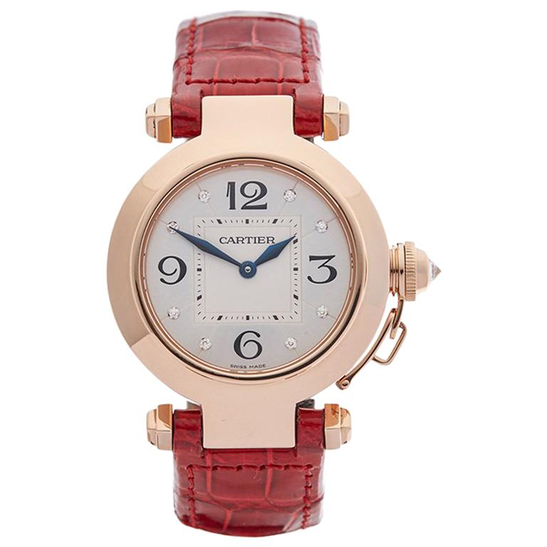 Cartier Ladies Rose Gold Pasha de Cartier Quartz 2812