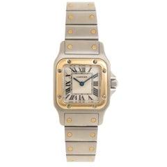 Cartier Ladies Yellow Gold Stainless Steel Santos Quartz Wristwatch