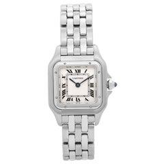 Cartier Ladies Stainless Steel Panthere Quartz Wristwatch Ref W25033P5
