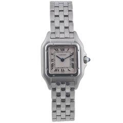 Cartier Ladies Stainless Steel Panthere Wristwatch