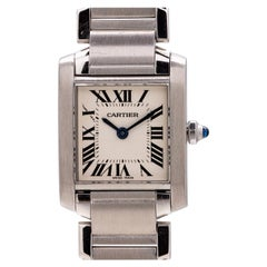 Cartier Ladies Tank Francaise Stainless Steel, circa 2000s